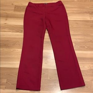 Express editor work pants red size 6R